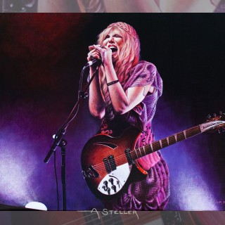 Miss Courtney Love painting