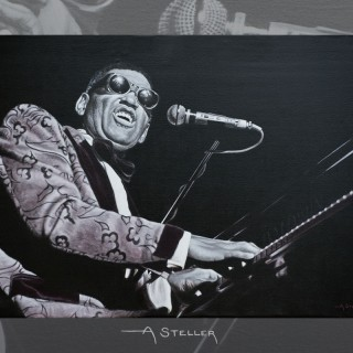 Classic Ray Charles painting - SOLD