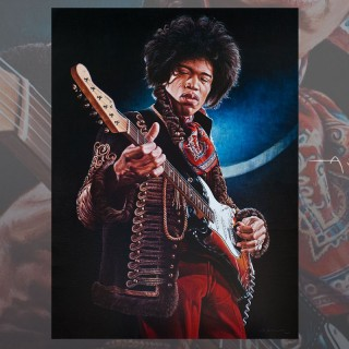 Jimi Hendrix collectible painting